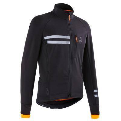 Jachetă ciclism RC 500 Negru